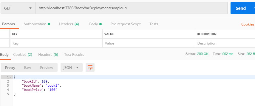 Deploy Spring boot war in JBOSS EAP server
