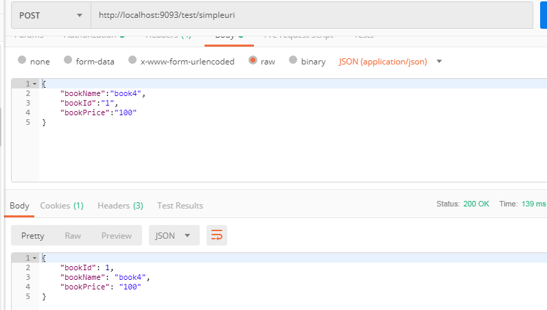 RequestBody and @ResponseBody annotation example in Spring