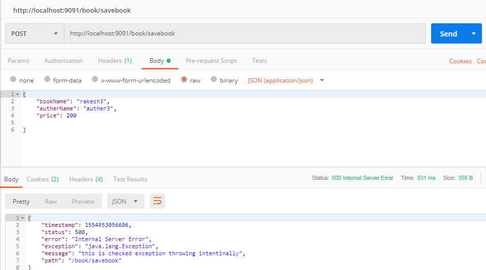 @Transactional rollbackFor example using spring boot