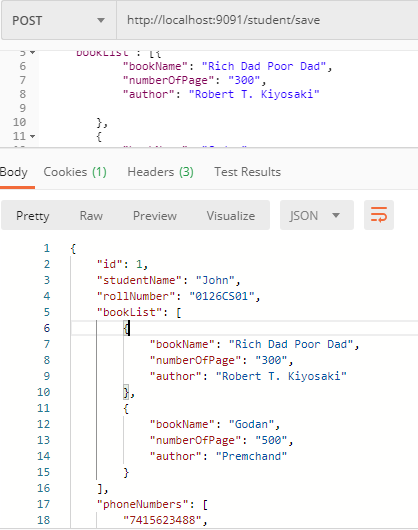 @ElementCollection Example in Hibernate/JPA Using Spring Boot